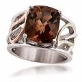 Sterling Silver Smokey Quartz Ring VM1851SQ