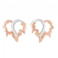 Black Hills Gold and Silver Heart Leaf Earrings VM30041