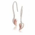Sterling Silver BHG Polished Leaves Earrings VM3622PL