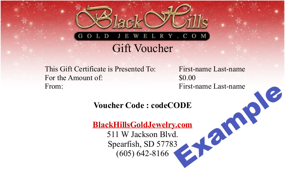 Black Hills Gold Jewelry Gift Certificates Online Store